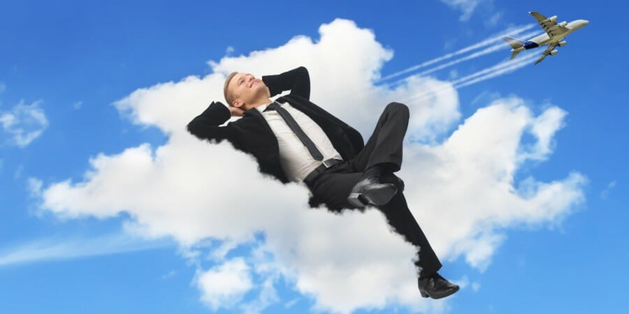 Man sleeping in a Cloud