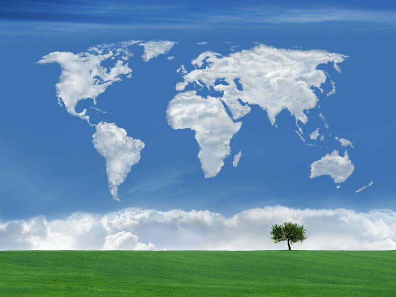 Cloud wereldkaart