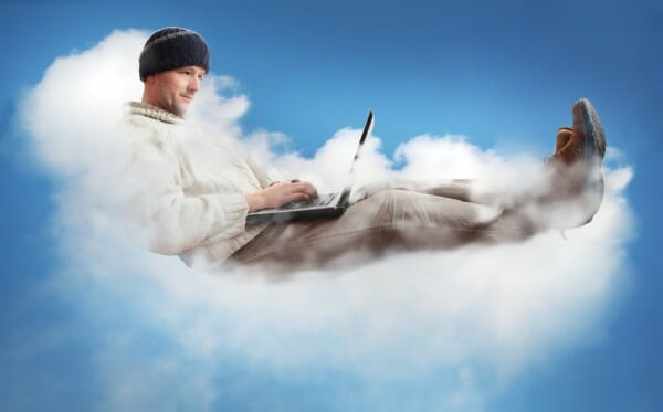 man-in-cloud